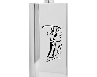 Personalized 5oz Stainless Steel Golfer's Flask