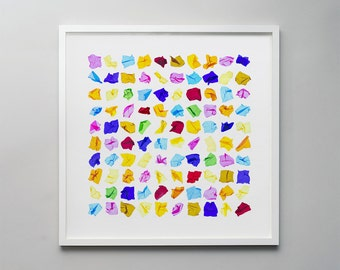 Quality - a photographic montage of colourful cellophane sweet wrappers.