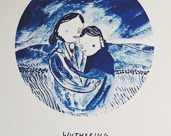 Wuthering Heights 'Heathcliff & Cathy embrace' print