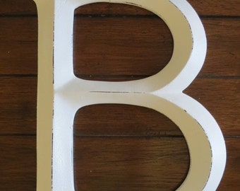 ON SALE TODAY Letter B/ Pick Your Own Letter/ Wall Letter/ /Distressed Antique White/ Wall Decor/Mantle Decor