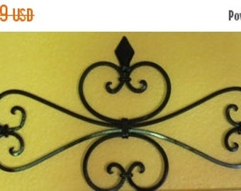 ON SALE TODAY Fleur de Lis Metal Wall Decor/ Scrolled Wrought Iron Wall Hanging /Black or Pick Color/Spanish Style/ Metal Scrolled Wall Art/