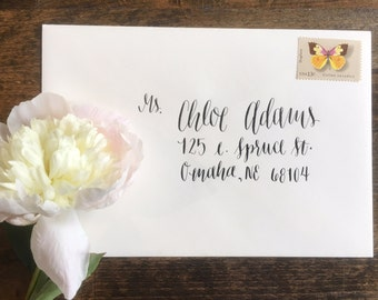 Custom calligraphy envelopes | Weddings | Showers | Events