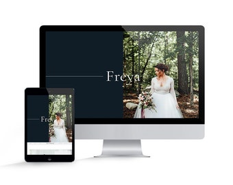 Showit 5 Template - Showit Website Template for Photographers - Instant Download - Freya Showit Website Template