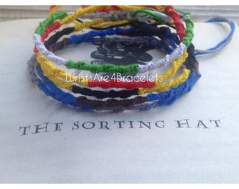 Harry Potter Chinese Staircase Friendship Bracelet - Gryffindor, Slytherin, Ravenclaw, and Hufflepuff
