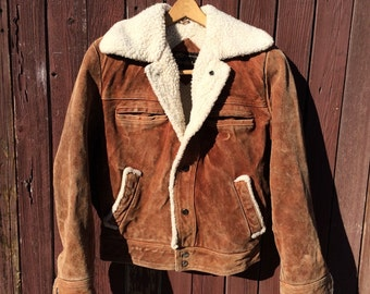 Leather and Shearling Bomber Jacket