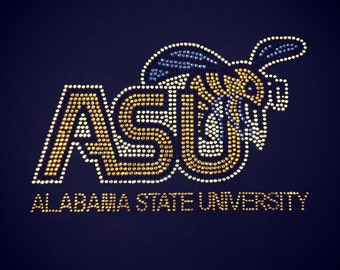Alabama State University Hornets Rhinestone Heat Transfer