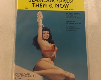 Best of Glamour Girls Then and Now Autographed by Bunny Yeager Bettie Page on Cover