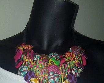 African print  handmade necklace