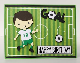 soccer birthday card  etsy, Birthday card