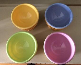 Vintage Ice Cream Dishes, Pastel, Ice Cream Cone, Plastic, Picnic Ware