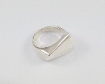 Vintage Georg Jensen Denmark 925 Sterling Silver Modernist Ring 141 Henning Koppel