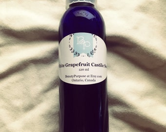 White Grapefruit Castile Liquid Soap 120 ml / 4 oz