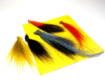 Fly Fishing Lure Supplies, DIY Fishing Lure Materials, Fishing Supplies, 5 Fur Swatches for Handmade Fishing Lures