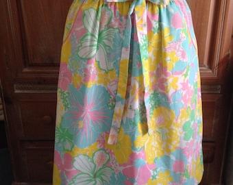 Vintage Key West Fabrics Floral Skirt