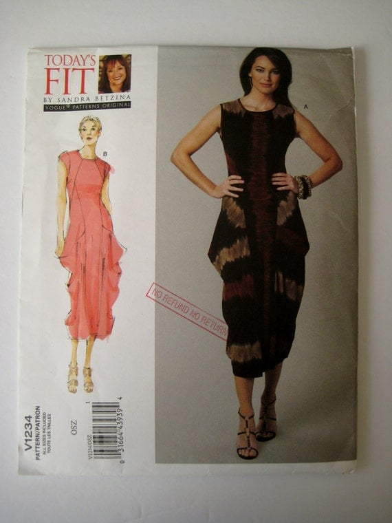Stretch Knit Sewing Patterns : Vogue V1234 Sewing Pattern Dress Pattern Stretch Knit Dress