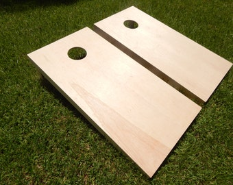 """Handcrafted 3/4"""" Regulation Unfinished Cornhole Boards W/ Bags"""