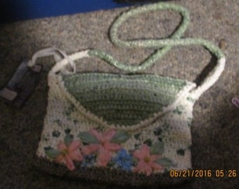 Crocheted Recycled Plastic Bag / Purse made from Plarn (Plastic Yarn)