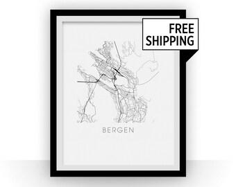 Bergen Map Print