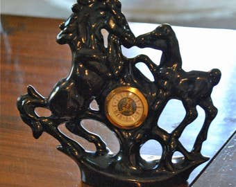 Vintage Horse Clock made in Germany
