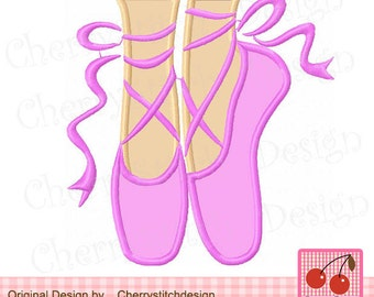 Ballet shoes Ballerina Machine Embroidery Design BG0019 -4x4,5x5,6x6 inch