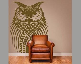 "Owl Vinyl Wall Decal Home Decor Wall Decor 28x44"""