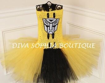 Transformers (Bumble Bee) Tutu Dress/Tutu Dress/ Costume