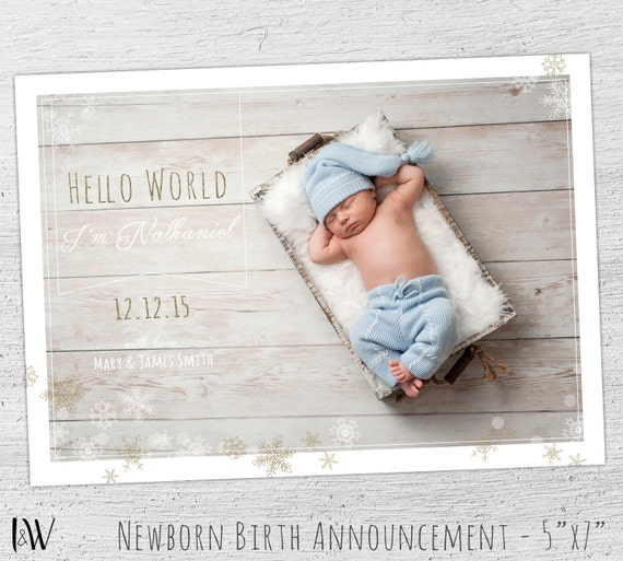 Birth Announcement Template Baby Boy Birth Announcement – Boy Birth Announcement