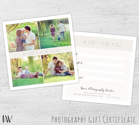 Photography Gift Certificate, Spring, Photoshop Template