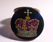 "On hold. Rare Stratton ""Corona"" powder compact compact mirrors for sale pocket mirrors powder"
