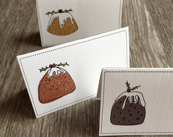 Christmas Pudding Place Cards - Pack of 6