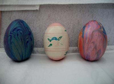 Hand painted wooden easter eggs folk art holiday decorating - Painted wooden easter eggs ...