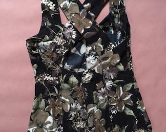garden lily maxi dress | cross back | 90s floral dress