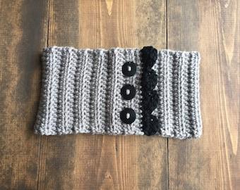 The Raquel Headband - crocheted headband - knitted ear warmer - hair accessory