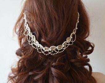 Wedding Headpiece, Wedding Headband, Bridal Headpiece, Wedding Hair Accessory, Wedding Hair Jewelry