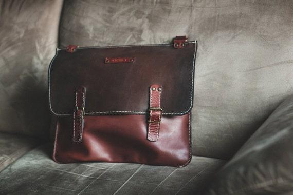 Happy Hour: 395 instead of 425! Laptop Bag,Handmade Leather Bag,Men retro briefcase,Business Retro Bag,Minimal Retro Bag