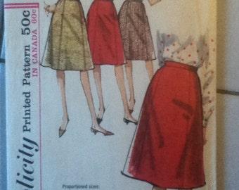 "McCall's Vintage Skirt Pattern 5624 Size: Waist 28"", Hip  38"""