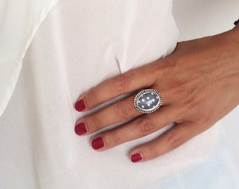 Polkadots Ring Silver Handmade Jewelry Photo Ring
