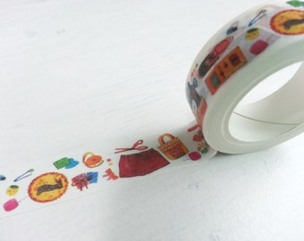 Sewing Washi Tape - 1 Roll (15mm X 10M)