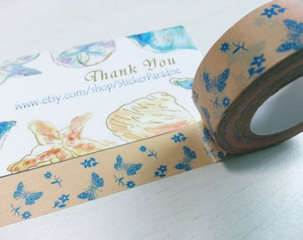 Butterfly Washi / Masking Tape - 15 mm x 10 M