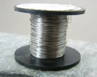 Stainless steel wire ~ 0.3 mm Stainless steel wire ~ Steel wire ~ 28g steel wire ~ Jewellery supplies ~ Wire wrapping ~ Steel Jewelry wire ~