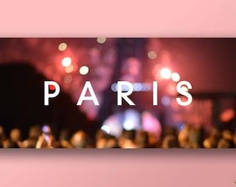 The 1975 - 'Paris' Banner Poster