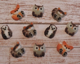 Forest Friends Sugar Dec ons-Set of 12