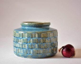 PALSHUS Denmark - big budded vase - pale blue - APLS C 19 - Danish mid century pottery