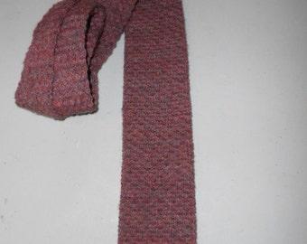 Mens Vintage Pendleton Wool Knit Tie Necktie Square Tip
