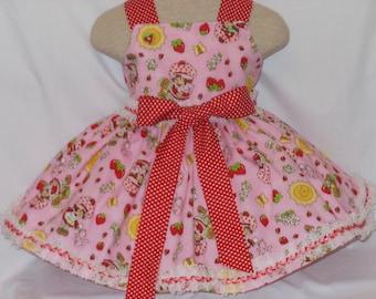 Strawberry Shortcake Dress, Strawberry Birthday Dress, Pageant Dress, Custom Boutique Strawberry Princess Dress,Unique,Handmade Dress