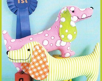 """Pattern """"Best In Show"""" Softie/Toy Pattern by Ric Rac (RR728) Sewing Card Instructions"""