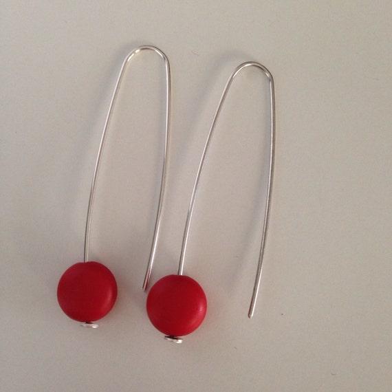 Cute 'red lantern' earrings