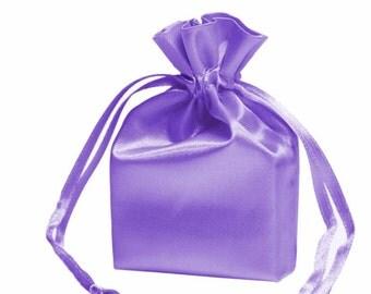 Large Lavender Satin Gift Bag