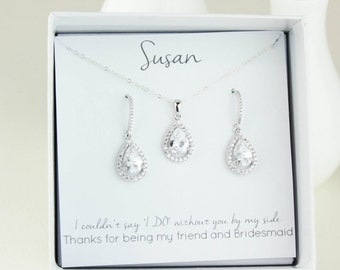 Wedding Jewelry, Bridesmaid Gift,  Bridesmaid Jewelry, Bridal Jewelry, bridesmaid gift, Will you be my bridesmaid, Bridesmaid set