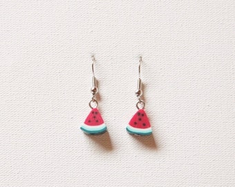 Watermelon fruit earrings